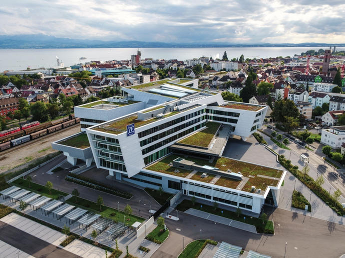ZF headquarters on Lake Constance in Friedrichshafen, Germany.