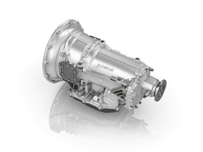 ZF is adapting its passenger car Powerline automatic transmission for vocational truck applications up to 57,000 lbs.   - Photo courtesy ZF
