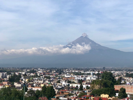 Not many truck shows are held within the shadow of an active volcano.Popocatépetl, about 40...