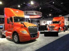 International Orange was the dominate color in the Navistar booth at NACV 2019.