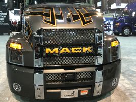 This wildly styled Anthem holds the spotlight at the Mack booth at the NACV Show.