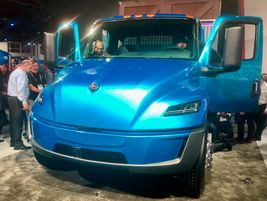 International Trucks unveiled this prototype battery-electric version of its medium-duty MV...