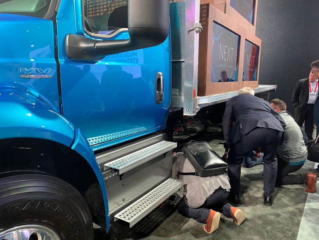 The unveiling of the concept medium duty electric truck garnered a lot of interest.