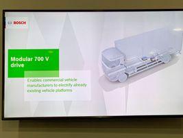 Bosch also highlighted its modular e-drive.