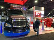 """Citing its legacy as a """"power company,"""" Cummins displayed a hydrogen fuel cell truck as a..."""