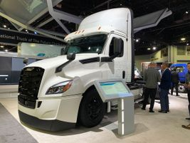 The Class 8 Freightliner eCascadia is already in testing on the West Coast.