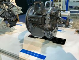 Eaton showed off its new four-speed electrified-vehicle transmission.