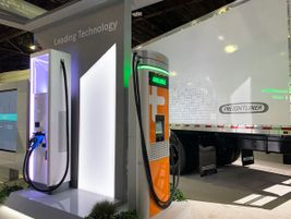 Those battery-electric vehicles need a place to fuel, and Daimler Trucks North America showcased...
