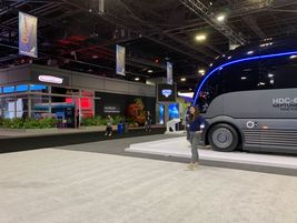 Another entry in the hydrogen-fuel-cell arena was Hyundai's HDC-6 Neptune concept truck.