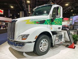A Peterbilt Model 579EV is already in use by third-party logistics provider Biagi Bros.