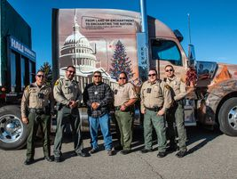 The U.S. Capitol Christmas Tree tour, pulled by a Kenworth W990, began November 11 in Red River,...