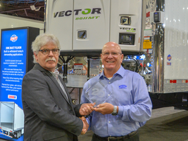 Scott Williams, Region Director, South Truck & Trailer Products, Carrier Transicold received the...