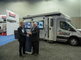 Heavy Duty Trucking magazine publisher David Moniz presents Bob Doane, Chief Technology Office,...