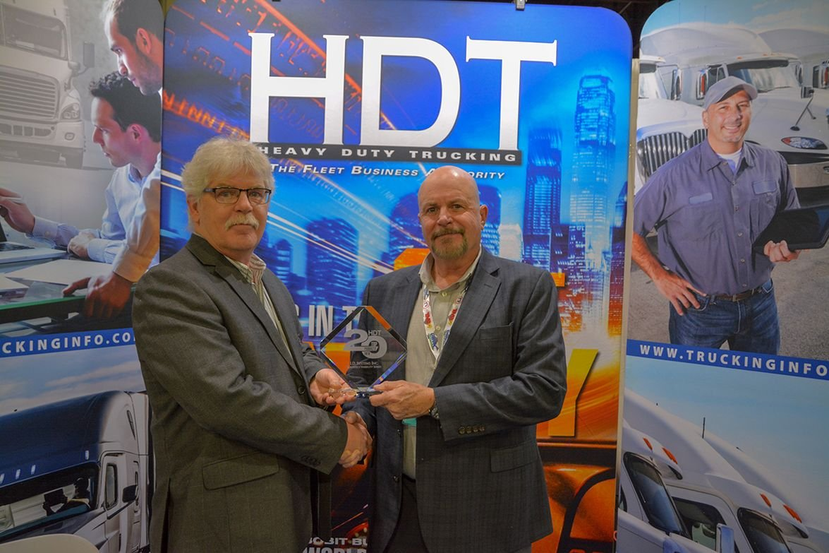 Norm Thomas, General Manager of Power Fleet for Logistics, ID Systems received the award for the...