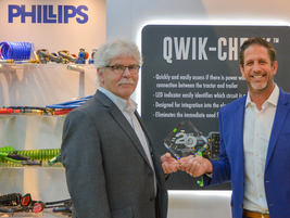 Rob Phillips, President and COO, Phillips Industriesreceived the award for the company's...
