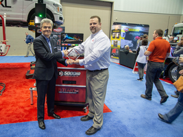 Jeff Vervoort, Wheel Service National Sales Manager, Rotary VSGreceived the award for the...