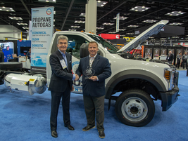 Todd Mouw, President, ROUSH Clean Techreceived the award for the company's propane autogas...