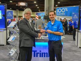 Jake Wallace, Sr. Marketing Communication Specialist, Trimble Transportationreceived the award...