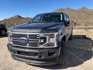 An F-250 Super Duty patiently awaits another run up Granite Mountain (seen in the background).