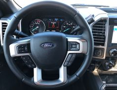 Close-up shot of the new Ford Super Duty dash.