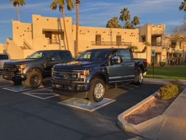 This blue F-250 Super Duty was HDT Senior Editor's first test drive of the launch.