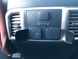The rear passenger cabin on 2020 Ford Super Duty Trucks is roomy and comfortable with convenient...