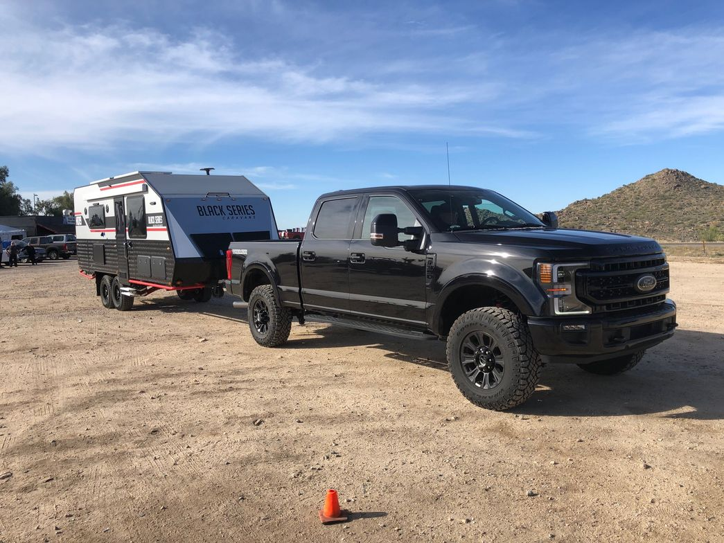 """The Super Duty """"Tremor"""" model is a new, off-road version of the line that can tow heavy loads,..."""