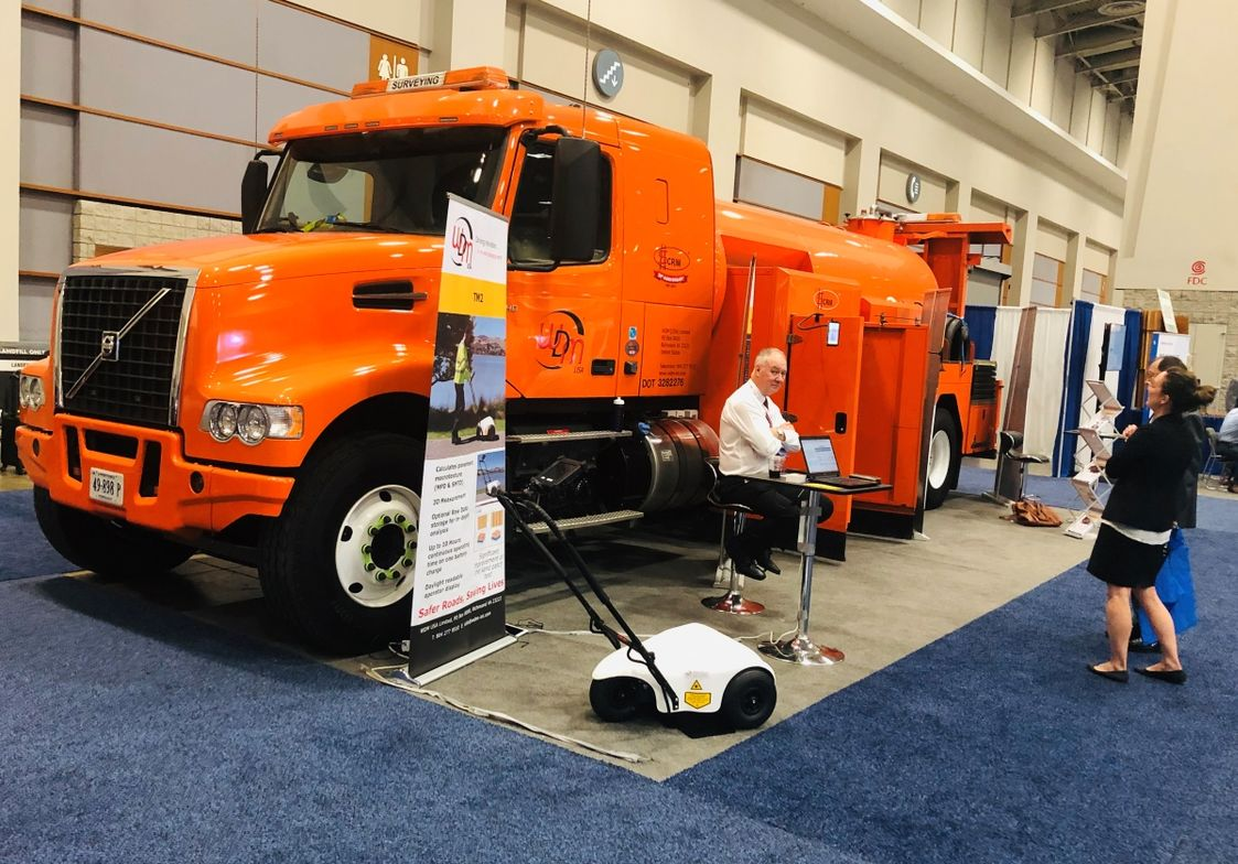An FHWA-funded project uses a Sideway-force Coefficient Routine Investigation Machine (SCRIM)...