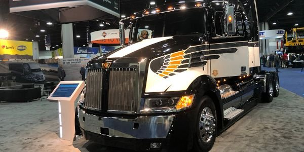 Swinging '70s style was on display in the Western Star section of the Daimler Trucks booth.