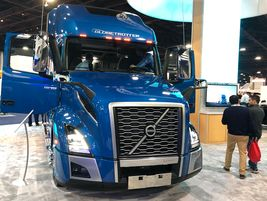This fully tricked-out Globetrotter Edition Volvo VNL drew crowds during the 2020 TMC Annual...