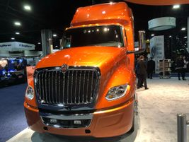 A gorgeous orange sheen graces this International LH tractor on the TMC show floor.
