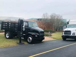 Displayed outside Mack's new⁩ production plant in Salem, Virginia, are new MD trucks, one fitted...