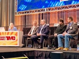 Talking about uptime were moderator Amanda Schuier, Quality Transport, with from left, Benny...