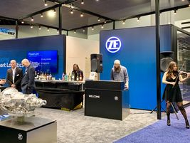 The strains of electric violin at the ZF booth could be heard throughout most of the exhibit...