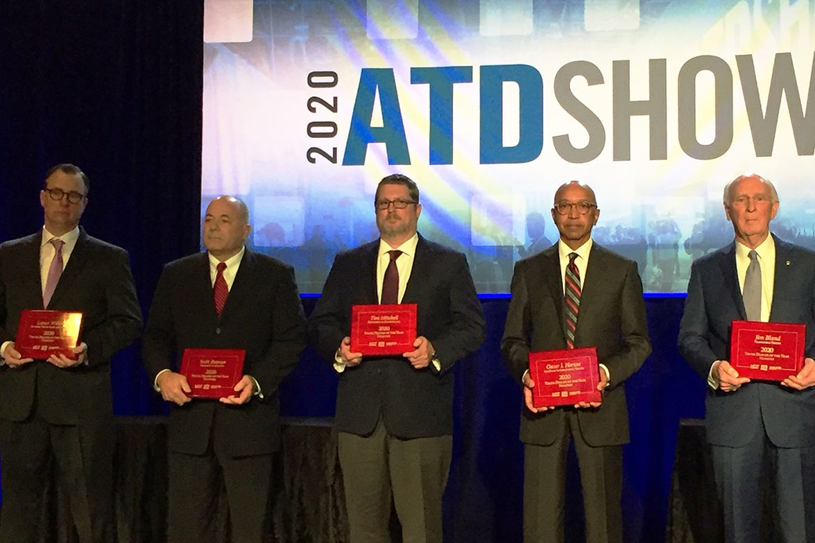 """This year's nominees included (L-R) Thomas """"Lance"""" Wilson, general manager, General Truck Sales..."""