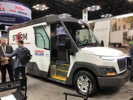 "The ""Storm"" from Morgan Olson. This is a prototype Class 2 walk-in step van requiring no CDL to..."