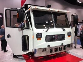With its 82-inch cab width, the LNT heavy‐duty work truck from Crane Carriers Corporation is a...