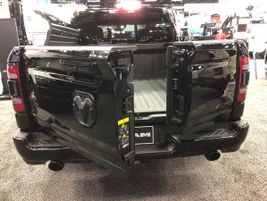 Ram's new 60/40 split tailgate, announced this year at The Work Truck Show