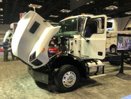 Mack unveiled its new MD Series of Class 6 and 7 trucks for the first time publicly at the show.