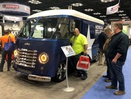 A real showstopper, this magnificently restored all-aluminum Morgan Olson Kurbside step van may...