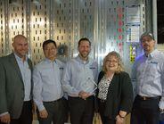 Larry Bethel, president, cargo systems divison; Jo da Rosa, senior product development engineer;...