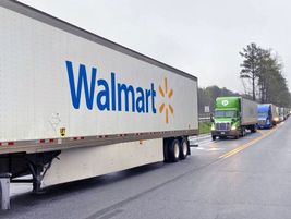 Trucks lined up outside distribution centers, trying to meet the high demand for everything from...