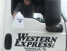 Hand sanitizer has been hard to come by. Western Express got some from its dealer.