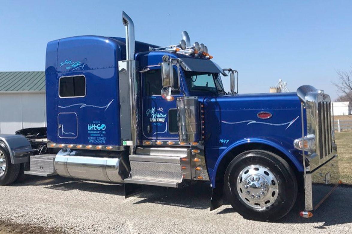Company Truck, Bobtail, 2nd Place, Jeff Whited's 2020 Peterbilt 389, Hickabilly