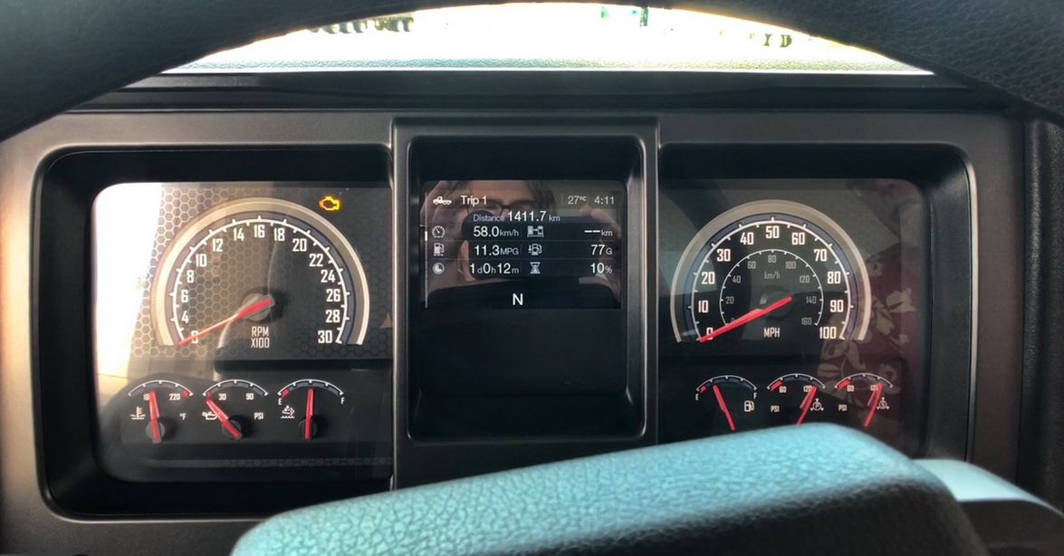 The digital display nestled between the speedo and tach provides truck systems monitoring and...