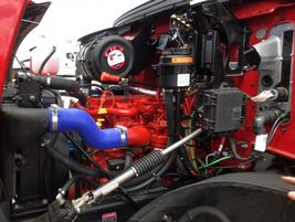 The Cummins B6.7 churns out 250 hp and 660 lb-ft. Driver inspection items on the left side are...