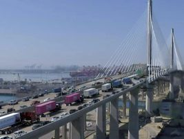 The new Port of Long Beach bridge is a $1.5 billion, 7-year joint effort.