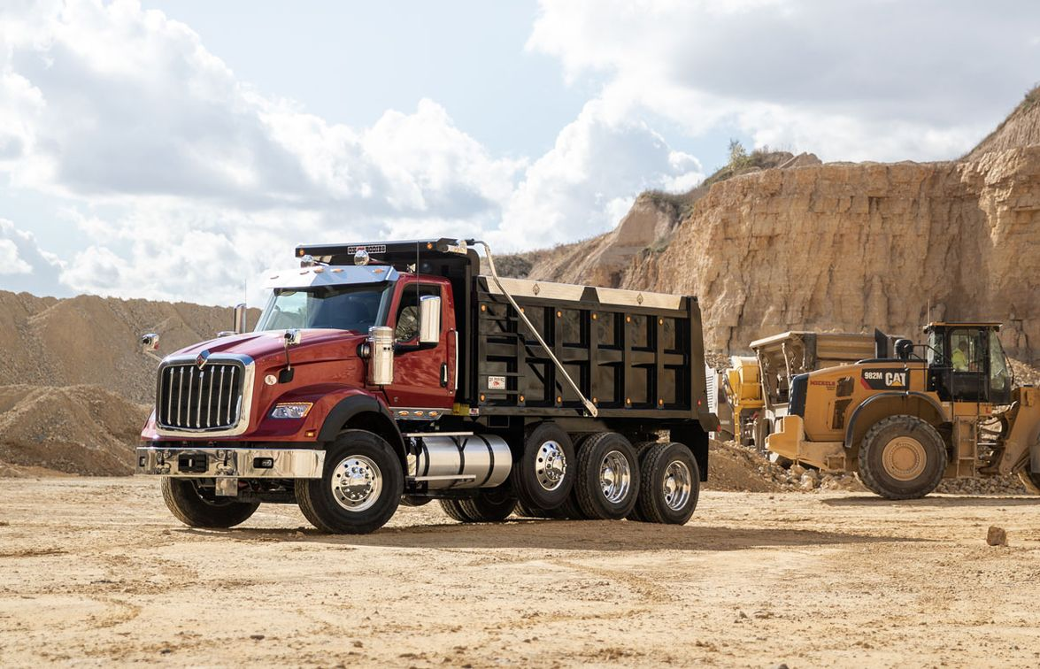 The new International HX Series is available in both a set-forward axle HX520 and a set-back...