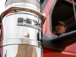 Functional external air cleaners add classic style to the International HX.