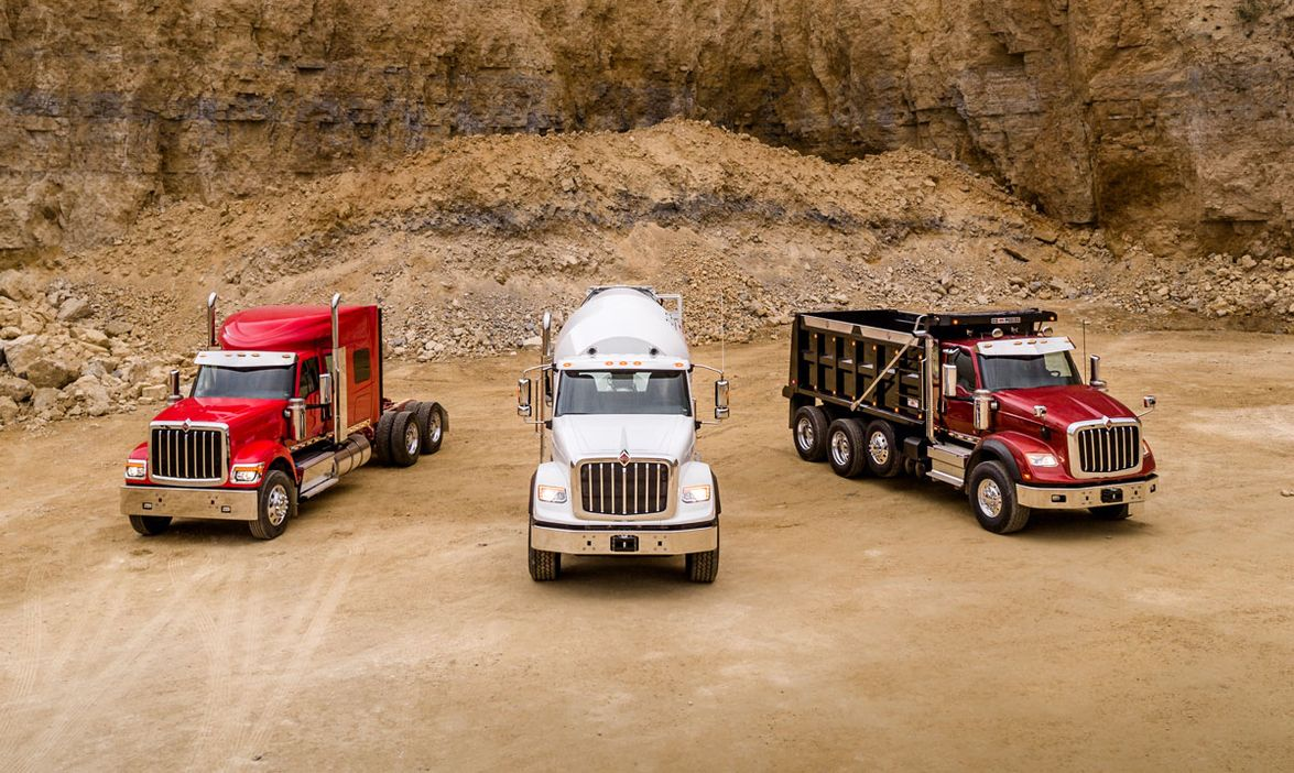 Dump, mixer, and heavy haul are prime applications for the new International HX Series.